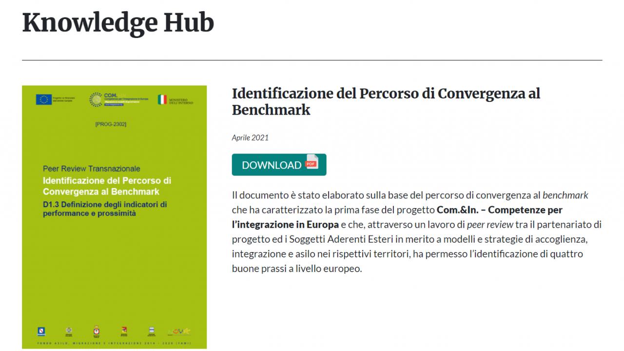 Nasce il Knowledge Hub di Com.&In., sezione tematica dedicata all'approfondimento su integrazione e inclusione